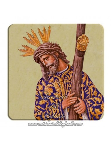 Imán cuadrado de plastico de Nuestro Padre Jesús del Gran Poder (Sevilla)