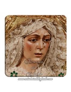 Imán cuadrado de plastico de la virgen de la Esperanza Macarena de Sevilla
