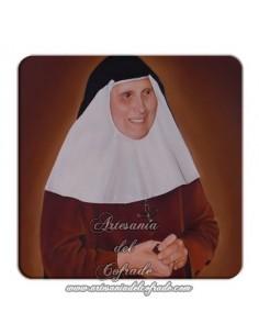 Imán cuadrado de plastico de Santa Madre María de la Purisima