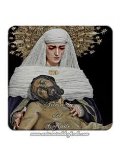 Imán cuadrado de plastico de la Sagrada Mortaja de Sevilla