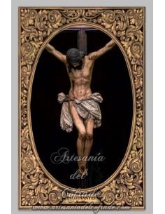 Azulejo del Cristo de la Buena Muerte (Hermandad de los Estudiantes) de Sevilla.