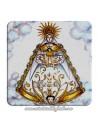 Imán cuadrado de plastico de imagen antigua de la Virgen del Rocio