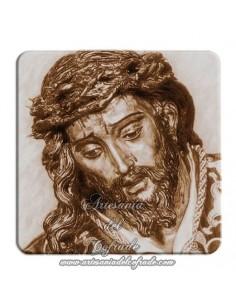 Imán cuadrado de plastico del cristo de las Tres Caidas de Triana