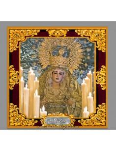 Azulejo cuadrado con la virgen de la Paz y Esperanza de Cordoba