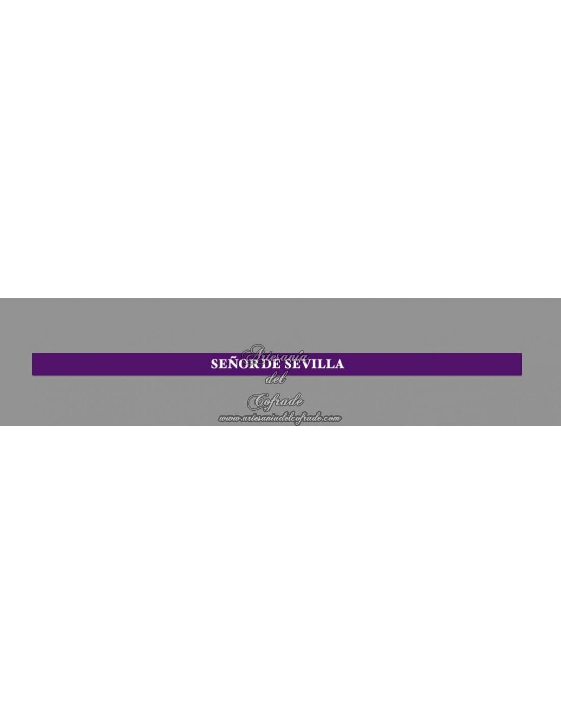 03e710a02ab8 Pulsera de tela con el texto Señor de Sevilla - Tienda Cofrade Artesanía  del Cofrade