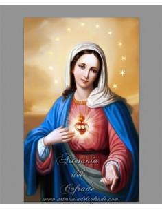 Azulejo rectangular con la imagen del Sagrado Corazón de Maria