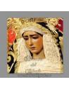 Se vende esta cerámica cuadrada de la virgen del Dulce Nombre de Sevilla - TIENDA COFRADE