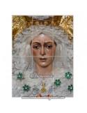 Mosaico de 12 azulejos con la virgen de la Esperanza Macarena de Sevilla
