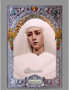 Azulejo de la Virgen de las Aguas de Sevilla