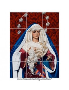 Se vende retablo cerámico de 12 azulejos de la Virgen de la Hiniesta ( Sevilla)