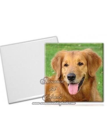 Imán de ceramica cuadrado personalizable con su fotografía