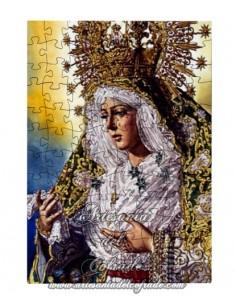 Puzzle madera con funda personalizado de la Virgen de la Macarena