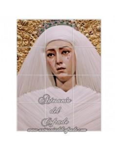Se vende mosaico cerámico de 12 azulejos de la Virgen de las Aguas (Sevilla)