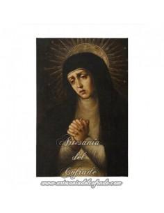 Lienzo con bastidor 20x30 reprodución con Virgen Dolorosa