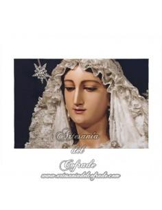 Lienzo con bastidor 20x30 de la Virgen del Rocio de Málaga