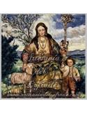 Azulejo cuadrado de la Pastora de Cantillana