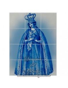 Retablo de 12 azulejos con Virgen Dolorosa