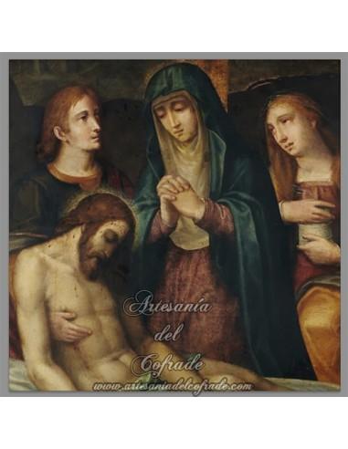 Placa madera 15x15 de Cristo Descendido