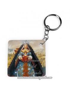 Llavero Cuadrado de la Virgen del Rocio (Patrona de Almonte)