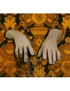 Juego de manos para figuras masculinas de Belen napolitano 35 ctm