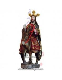 Cristo montado en la borriquita de 11 X 6 cm sin pintar