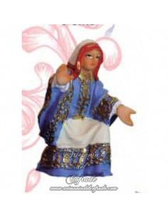 Figura mujer del paso de la borriquita sin pintar de 5 cm.