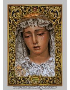 Azulejo rectangular de Nuestra Señora de la Esperanza de la Trinidad (Sevilla)