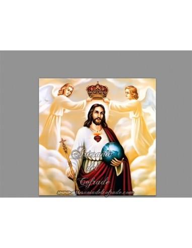 Placa madera 15x15 DE JESÚS REY DEL UNIVERSO