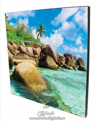 Placa madera 20x30 para personalizar con tu fotografia