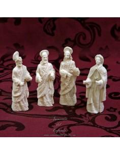 Conjunto de 4 evangelistas sin pintar de 8 ctm.