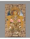 Azulejo rectangular de la Virgen del Rocio vestida de Reina.