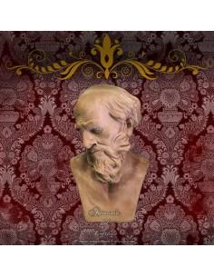 Cabeza o testa de rey mago Melchor napolitano de 35 ctm.