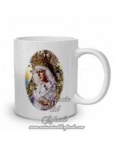 Taza con la virgen de la Esperanza Macarena de Sevilla
