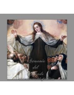 Precioso azulejo cuadrado de la Virgen del Carmen