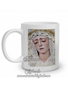 Taza con la virgen de la Estrella de Sevilla