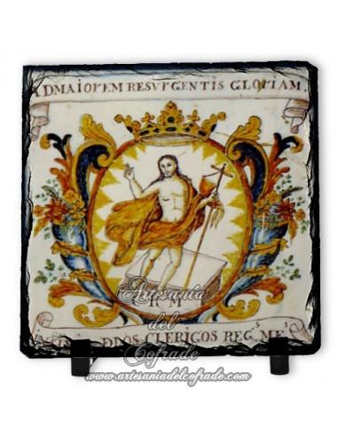 Pizarra 10x10 con imagen de la resurreción