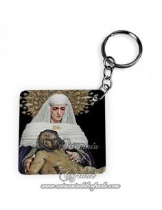 Llavero Cuadrado de la Sagrada Mortaja de Sevilla