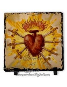Pizarra cuadrada de Corazón con puñales
