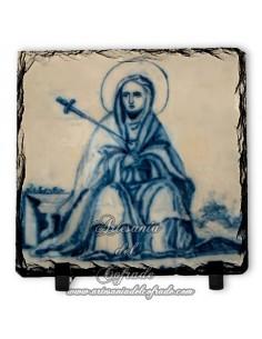 Pizarra cuadrada con virgen de los Dolores