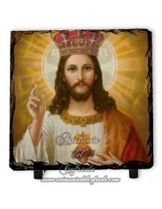Pizarra cuadrada del Sagrado Corazón de Jesús
