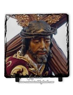 Pizarra cuadrada del Cristo de las tres caidas de Huelva