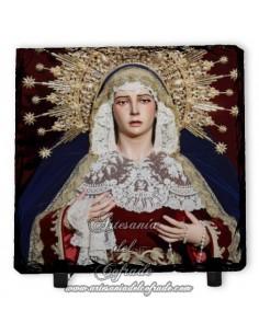 Pizarra cuadrada de la Virgen de las Penas de Sevilla