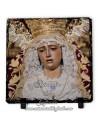 Pizarra cuadrada de la Virgen de la Amargura de Sevilla