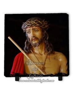Pizarra cuadrada del Cristo Coronado de Espinas de la Hermandad de los Estudiantes -Málaga-