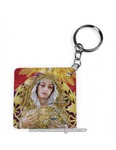Llavero Cuadrado de la Virgen de la Trinidad de Malaga