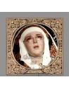 Precioso Azulejo cuadrado de la Virgen del Mayor Dolor en su Soledad de Sevilla