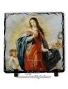 Pizarra cuadrada de la virgen Maria