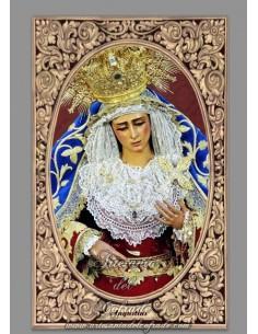 Azulejo rectangular de la Virgen de las Angustias (Hermandad de Los Gitanos, Sevilla)
