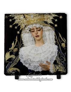 Bonita pizarra cuadrada de la Virgen de la Encarnación de San Benito (Sevilla)