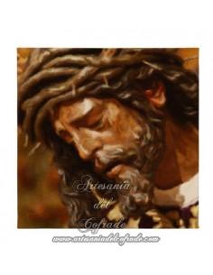 Lienzo cuadrado 20 x 20 de Nuestro Padre Jesús del Gran Poder